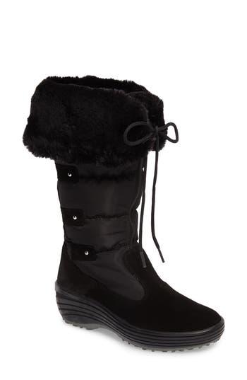 Pajar Mia Waterproof Boot With Faux Fur Trim, Black