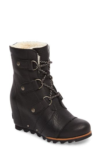 Sorel Joan Of Arctic Wedge Genuine Shearling Bootie