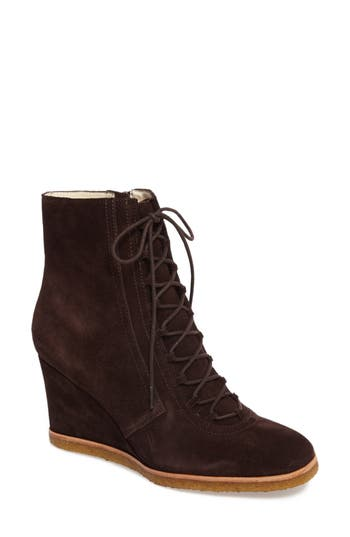 Bettye By Bettye Muller Wander Wedge Bootie- Brown