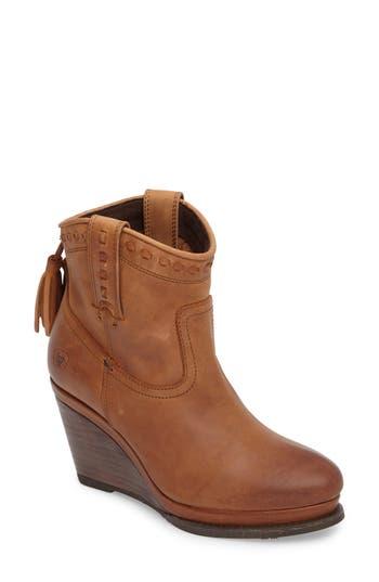 Ariat Broadway Western Wedge Boot, Brown