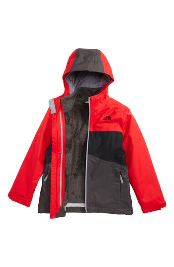 Boys The North Face Chimborazo Triclimate 3In1 Jacket Size S (78)  Red