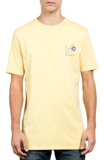 Volcom Vco Happy Time Graphic T-Shirt, Yellow