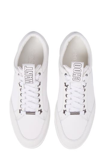 Jimmy Choo Miami Mid Top Sneaker, White