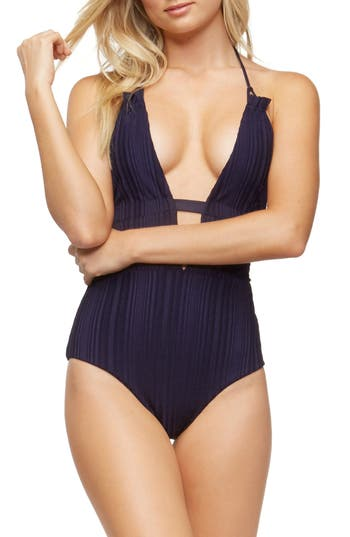 Tavik Emme Halter One-Piece Swimsuit, Blue