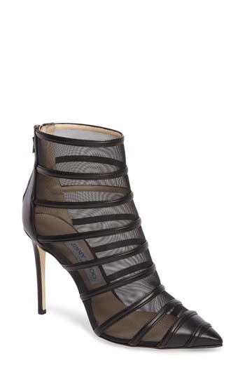 Jimmy Choo Belle Mesh Bootie, Black