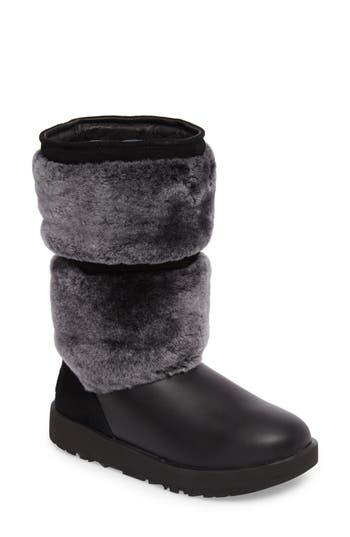 Ugg Reykir Waterproof Snow Boot, Black