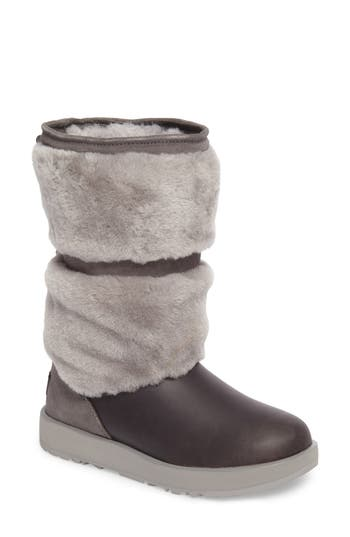Ugg Reykir Waterproof Snow Boot, Grey