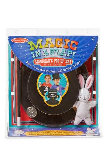 Melissa  Doug 4Piece Magicians PopUp Magical Trick Hat Play Set