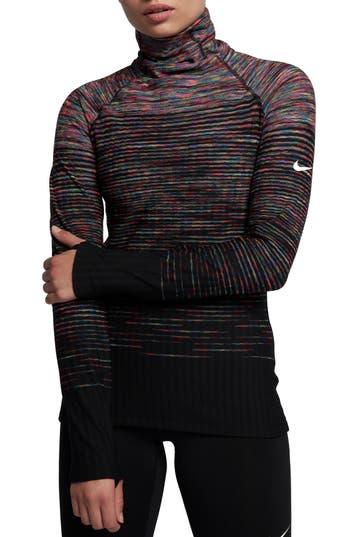 Nike Pro Hyperwarm Long Sleeve Training Top, Blue