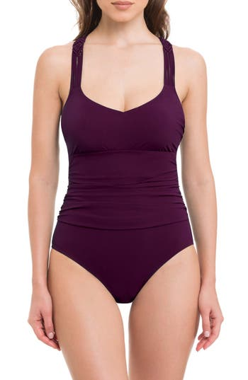 Profile By Gottex Java One-Piece Swimsuit, Burgundy