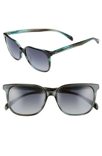 Salt Kintner 55Mm Polarized Cat Eye Sunglasses - Dark Teal