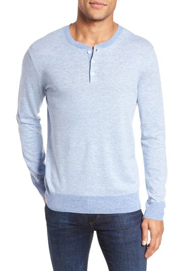 Bonobos Henley Sweater, Blue
