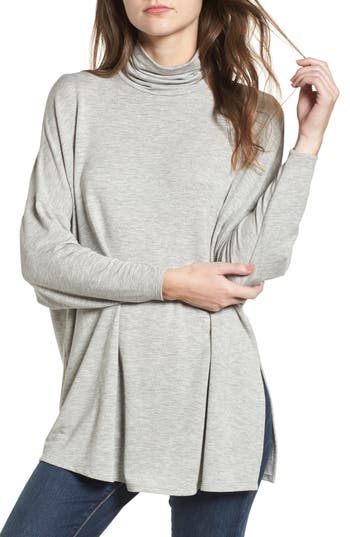 Women's Soprano Mock Neck Tunic, Size X-Small - Grey