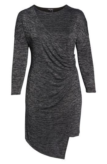 Plus Size Nic+Zoe Every Occasion Studded Dress, Grey