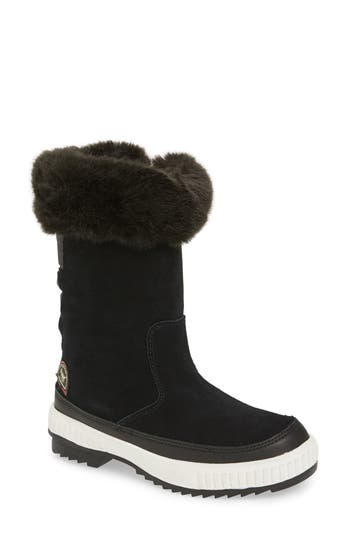 Pajar Kady Waterproof Insulated Winter Boot With Plush Cuff, Black