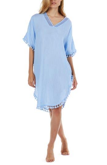 Women's Michael Stars Tassel Trim Cover-Up Tunic, Size X-Small - Blue