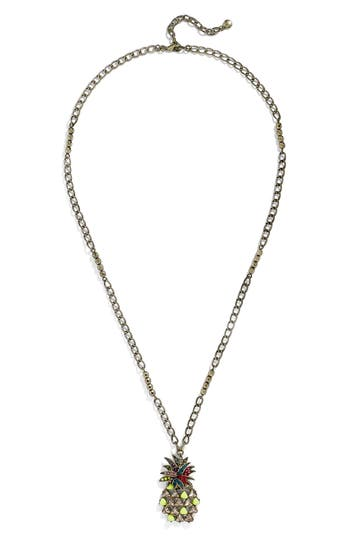 Women's Baublebar Pineapple Pendant Necklace at NORDSTROM.com