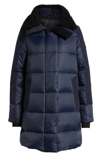 Canada Goose Altona Water Resistant 750-Fill Power Down Parka With Genuine Shearling Collar, (0) - Blue