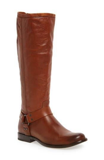 Frye Phillip Harness Tall Boot, Ext Calf- Brown