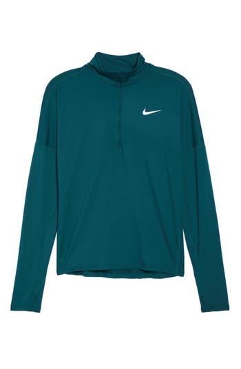 Women's Nike Dry Element Half Zip Top, Size X-Small - Green