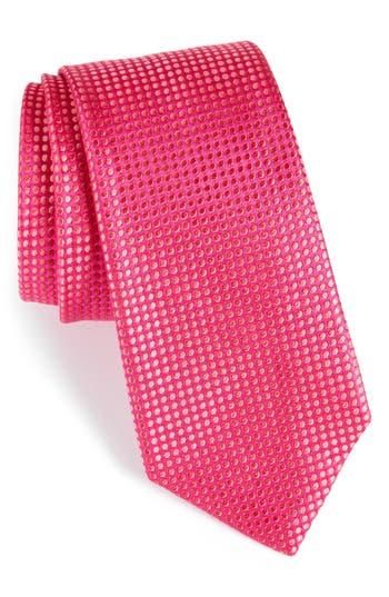 Men's Nordstrom Men's Shop Charlie Dots Silk Tie, Size Regular - Pink