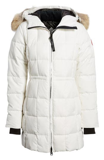 Canada Goose Beechwood Down Parka With Genuine Coyote Fur Trim, (10-12) - White