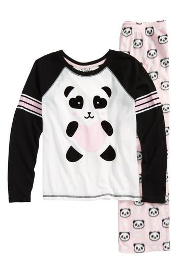 Girls Pj Salvage Panda Monium TwoPiece Pajamas