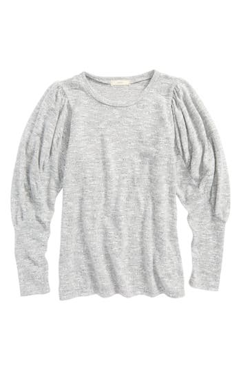 Girl's Soprano Cozy Sweater, Size S (8-10) - Grey