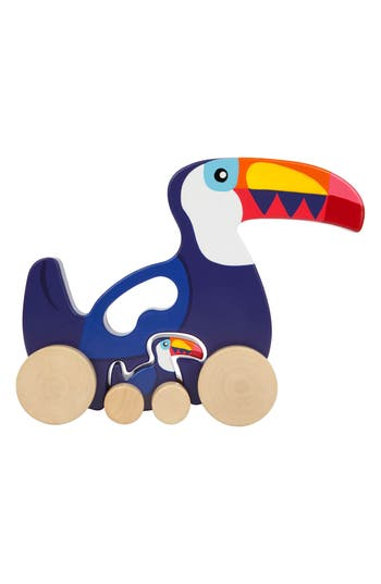 Toddler Sunnylife Set Of 2 Large Wheeled Nesting Flamingo Wooden Toys