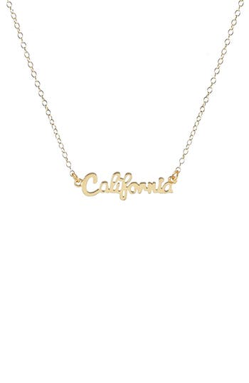 Women's Kris Nations State Script Charm Necklace at NORDSTROM.com