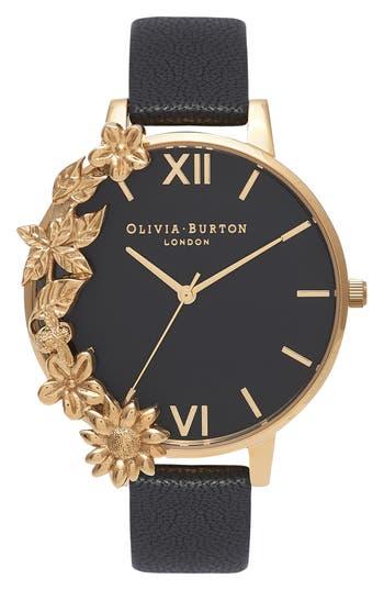 Women's Olivia Burton Case Cuff Leather Strap Watch, 38Mm