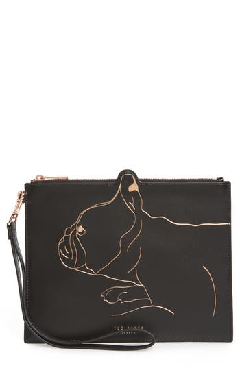 Ted Baker London Barker Leather Pouch - Black