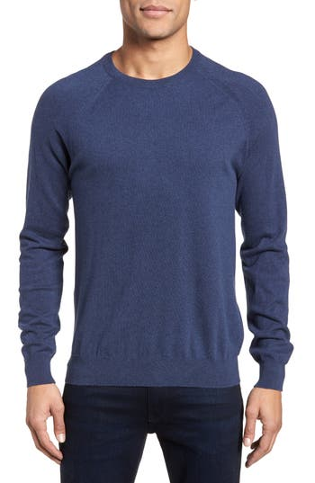 French Connection Regular Fit Stretch Cotton Sweater, Blue