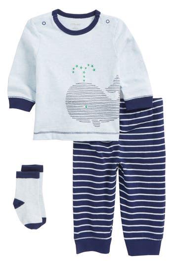 Infant Boys Little Me Whale TShirt Jogger Pants  Socks Set