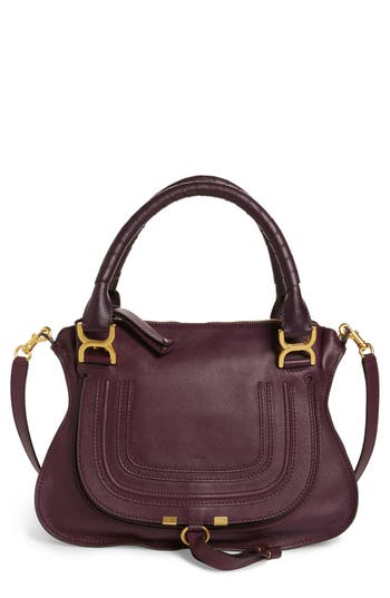 Chloe 'Medium Marcie' Leather Satchel - Black at NORDSTROM.com