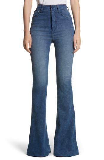 Brandon Maxwell High Waist Bell Bottom Jeans