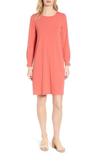 Petite Eileen Fisher Jersey Shift Dress, Orange