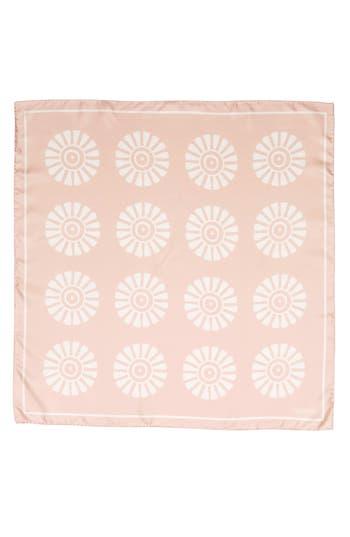 Women's Valentino Garavani Medallion Print Square Silk Scarf, Size One Size - Pink