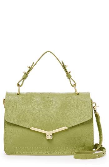 Botkier Vivi Calfskin Leather Satchel - Green