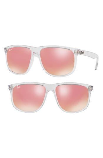 Ray-Ban 60Mm Mirrored Sunglasses - Pink Flash
