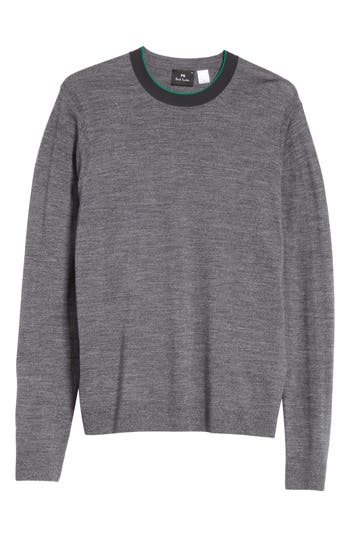 Ps Paul Smith Crewneck Merino Wool Blend Sweater, Grey