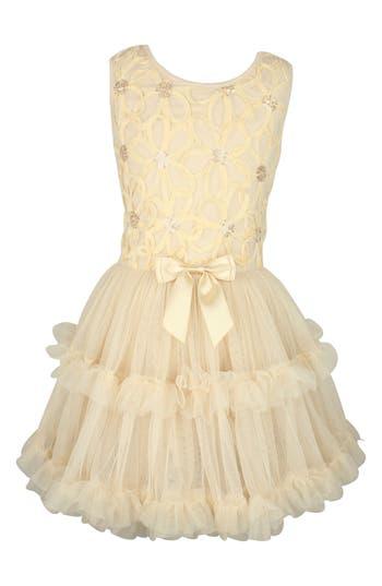 Girl's Popatu Daisy Flower Dress, Size M (5-6) - Ivory