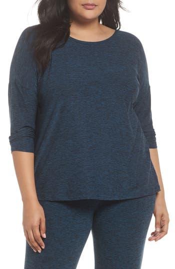 Plus Size Beyond Yoga Weekend Traveler Pullover, Blue