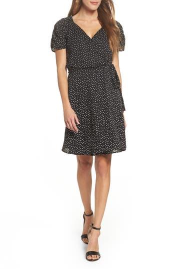 Women's 19 Cooper Ruche Sleeve Wrap Dress, Size X-Small - Black