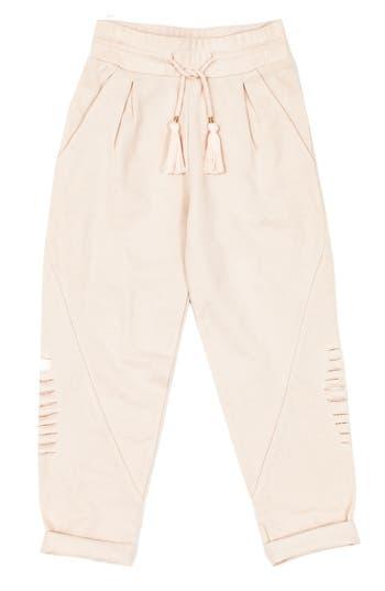 Girls Bowie X James Alchemy Distressed Sweatpants Size L (1112)  Pink