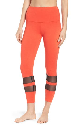 Onzie Racer Leggings, Red