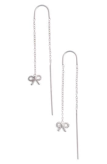 Women's Olivia Burton Vintage Bow Threader Earrings