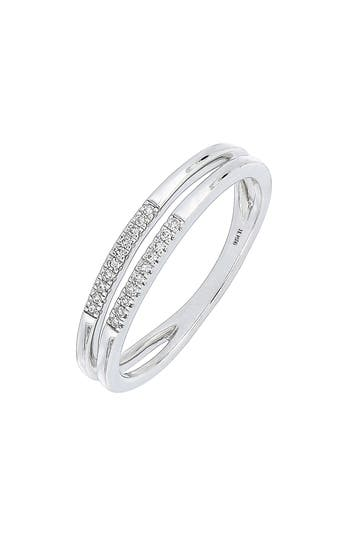 Women's Carriere Split Row Diamond Stackable Ring (Nordstrom Exclusive)