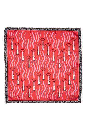 Women's Valentino Garavani Lipstick Waves Silk Scarf, Size One Size - Red