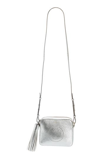 Anya Hindmarch Smiley Metallic Leather Crossbody Bag - Metallic